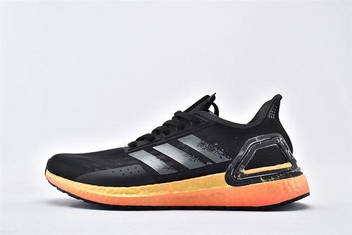 Adidas ULTRA BOOST UB 爆米花缓震跑鞋/黑橙 涂鸦 网面透气  货号:EG0430  男鞋