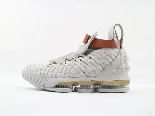 Nike Lebron 16 x HFR 联名款 LBJ16 詹姆斯16代篮球鞋/雄狮浮雕 绑带 时装秀 随意开启实战模式  货号:BQ6583 100  男鞋