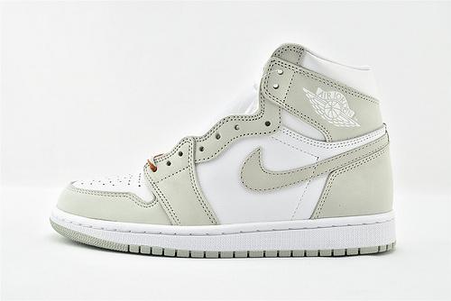 Air Jordan 1 AJ1 乔丹1代高帮篮球鞋/ 海沫绿 白浅绿  货号:CD0461-002  男女鞋  情侣款