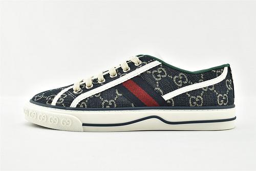 Gucci/古驰 2021新款发售 经典帆布板鞋/彩色 拼色 经典 全套包装  升级版 芯片   男女鞋  情侣跨