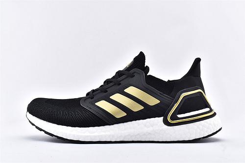 Adidas Ultra Boost UB20 爆米花5.0缓震跑鞋/黑金 镭射  货号:EE4393  男女鞋  情侣款