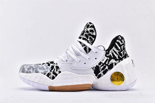 Adidas Harden Vol4.0 哈登4.0篮球鞋/黑白迷彩  纯原版  货号:EG2586  男鞋