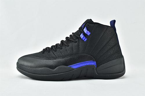 Air Jordan 12 AJ12 乔丹12代高帮篮球鞋/黑蓝 黑武士 黑豹  货号:CT8013-005  男鞋