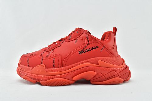 Balenciaga/巴黎世家 1.0 初代 复古老爹鞋/大红 全红 字母款  男女鞋  情侣款