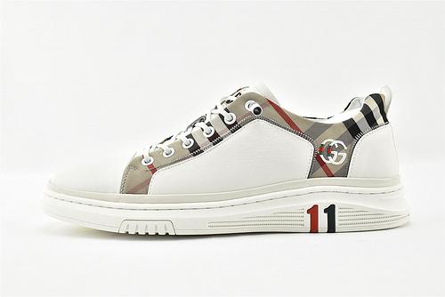 Gucci/古驰 Screener GG High-Top Sneaker /皮鞋 黑色 白色 刺绣双G休闲潮鞋   男鞋