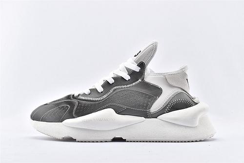 Adidas Y-3 KAZUHUNA 三本耀司 潮流运动鞋/银白 全套包装  男鞋