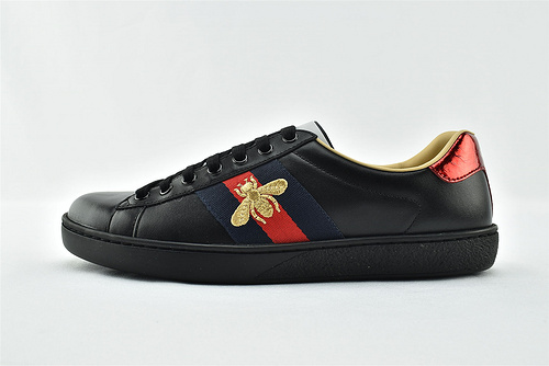 Gucci/古驰 小白鞋系列板鞋/ 经典 老花配色 2021新款绿盒+原盒 后尾红蓝水蛇皮    版 芯片 原盒   男鞋