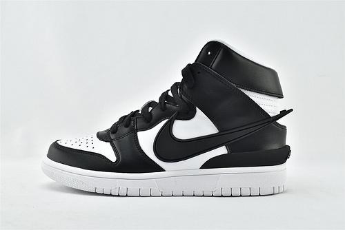 Nike Dunk High x AMBUSH SB高帮滑板鞋/联名 黑白熊猫   货号:CU7544-001  男女鞋  情侣款