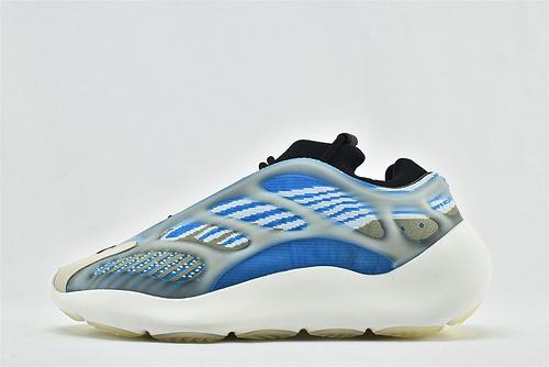 Adidas Yeezy 700 V3椰子复古老爹鞋/异形 黑蓝 夜光面 侃爷最新力作 2020最新款   货号:G54850