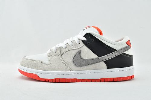 Nike SB Dunk Low 低帮滑板鞋/红外线 灰橙  货号:CD2563-004    男女鞋  情侣款