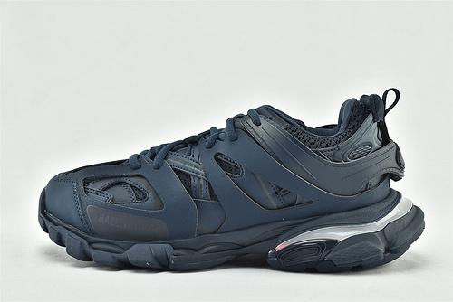 Balenciaga/巴黎世家 3.0 复古老爹鞋/做旧版 纯黑霓虹灯 LED  藏蓝色   纯原【灯光】 男女鞋  情侣款