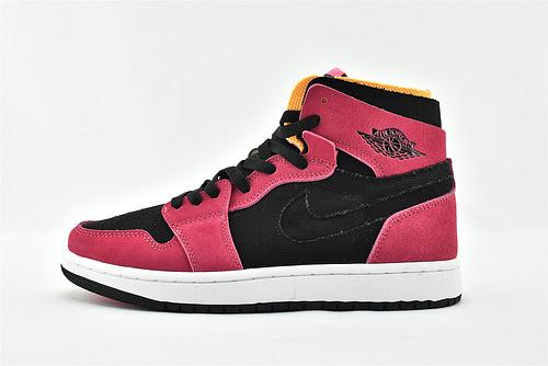 Air Jordan 1 Retro High Zoom AJ1 乔丹高帮篮球鞋/黑粉 环保系列 王子文同款  货号:CT0978-601  男女鞋  情侣款