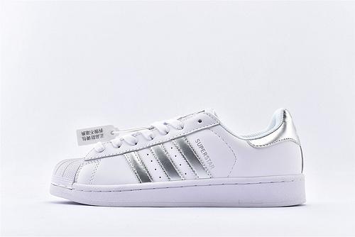 Adidas 三叶草 Superstar 贝壳头系列/全白 银 经典款 常青款  货号:AQ3091  男女鞋  情侣款