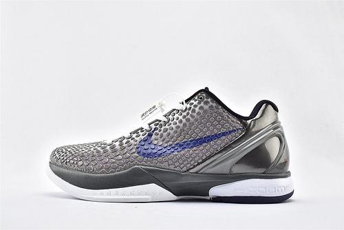 Nike Kobe 6 Lakers 科比6代篮球鞋/波点 黑白蓝  货号:429659-006  男鞋