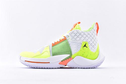 Jordan Why Not Zer0.2 PF 威少2代篮球鞋系列/白 荧光绿  实战无忧 内置缓震气垫  货号:BV6352-102  男鞋