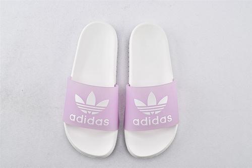Adidas 软底拖鞋/粉白  女鞋