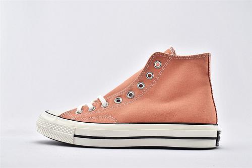 CONVERSE/匡威 1970S 三星黑标高帮滑板鞋/蜜桃粉 过验版  货号:163298C  男女鞋 情侣款