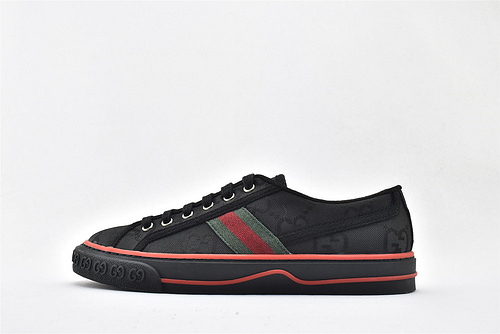 Gucci/古驰 Gucci 鼠年限定款 2020最新发售 经典帆布低帮板鞋/黑红绿 经典配色  男鞋