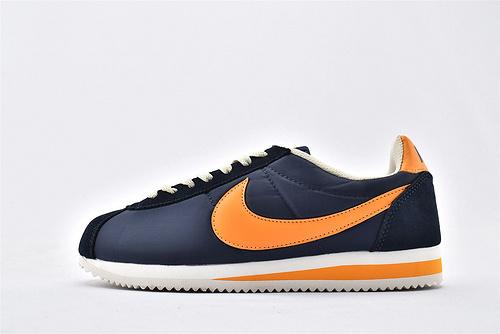 Nike Classic Cortez阿甘系列跑鞋/深蓝橘  纯原版  货号:488291 410  男女鞋  情侣款