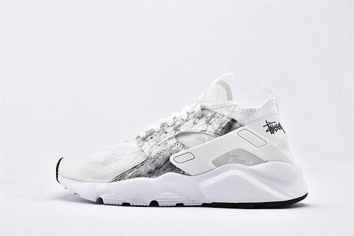 Nike Air Huarache Run Ultra 华莱士4.0系列跑鞋/全白 黑迷彩 网纱透明款 2020夏季新款
