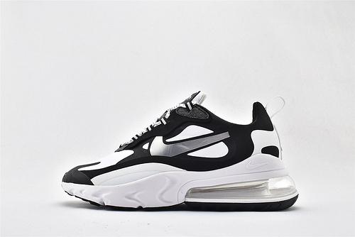 "Nike Air Max 270 React ""BAUHAUS"" 半掌小气垫跑鞋/黑白银 拼色 泡棉   货号:CQ4805-101  男女鞋  情侣款"