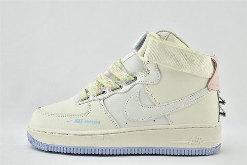 Nike Air Force 1 空军一号/中帮 马卡龙 解构 米白香草   货号:CQ4810-111   女鞋