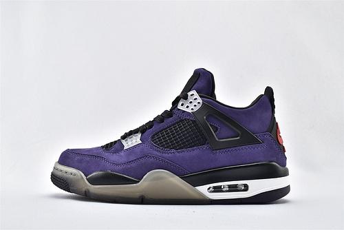 Air Jordan 4 AJ4 Rasta AJ4 乔丹4代篮球鞋/全球限定色 黑紫  男鞋