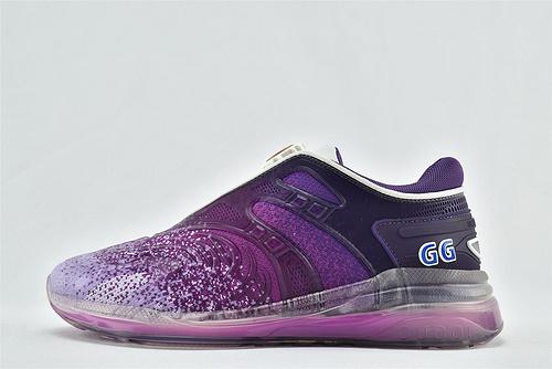 Gucci/古驰 Ultrapace 2020秋款运动跑鞋/黑白 花纹 拼色  星空紫色渐变 两色齐发  芯片 版  男女鞋  情侣款