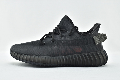 Adidas Yeezy Boost 350V2 椰子350系列/网纱 夏款 黑武士 黑色   货号:GX3791