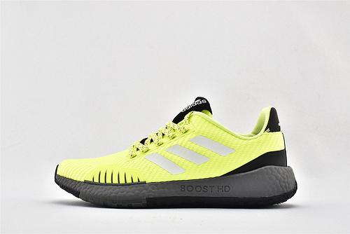 Adidas Pulse Boost HD UB爆米花缓震跑鞋/荧光绿 3M反光版  货号:EF8906  男女鞋  情侣款