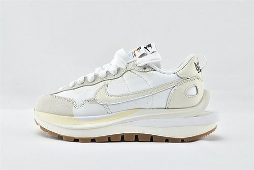 Sacai x Nike LVD Waffle Daybreak 联名走秀款解构高端跑鞋/华夫3.0 米白 牛津面  货号:DD1875-100    男女鞋  情侣款