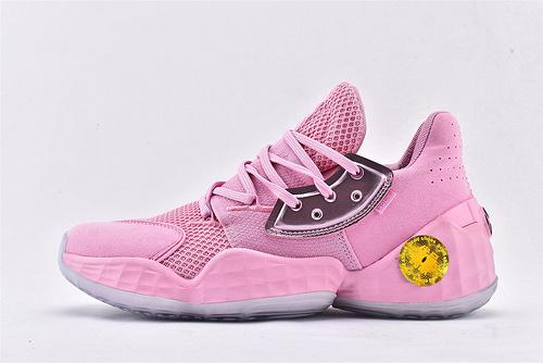 Adidas Harden Vol4.0 哈登4.0篮球鞋/骚粉  纯原版  货号:EG6225  男鞋