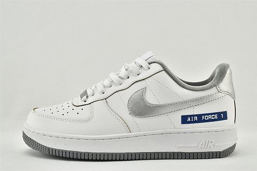 Nike Air Force 1 空军一号/低帮 白银 字母蓝  货号:DC5209-100   男女鞋  情侣款