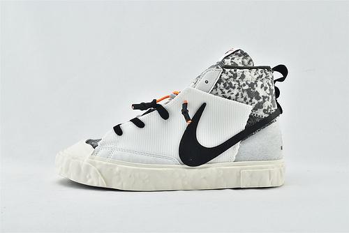 Nike Blazer Mid READYMADE 开拓者联名 高帮滑板鞋/解构 黑白  货号:CZ3589-100  男女鞋  情侣款