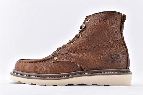 卡特/CAT 美版19款高帮户外工装靴/马丁靴 英伦风范  咖色  男鞋