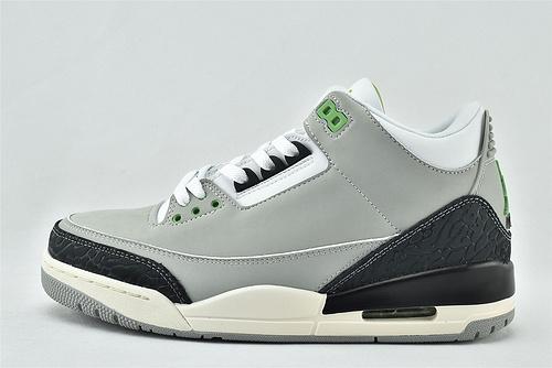 Air Jordan 3 Retro AJ3 乔丹3代篮球鞋/灰黑 手稿   叶绿素  货号:136064-006   男女鞋  情侣款