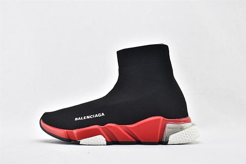 巴黎世家/Balenciaga 2019气垫款Speed Trainer 袜子鞋/黑红 针织弹力面   纯原版   男女鞋 情侣款