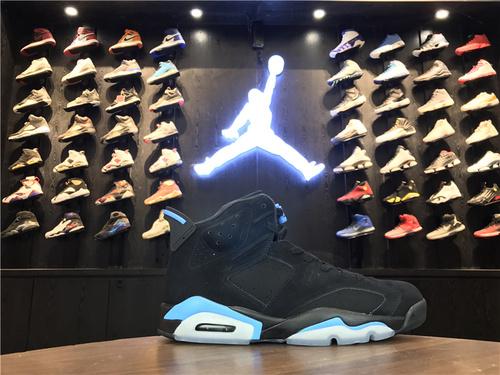 """乔丹/Air Jordan【真标公司级】aj6 AJ6 乔丹6代 乔6 乔丹6 篮球鞋 男鞋 Air Jordan 6 """"UNC"""" 货号:384664-006 乔6黑北卡蓝 乔6黑蓝 40.5-47"""