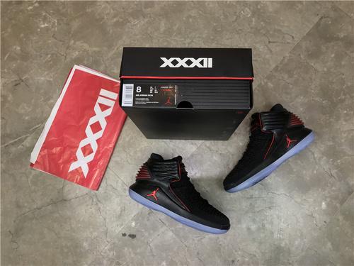 """乔丹/Air Jordan【高清图】乔丹XXXII代 乔丹32代 乔32 AJ32Air Jordan XXX2 """"MJ Day""""货号:AA1253-001 乔32黑红禁穿 40-47.5"""