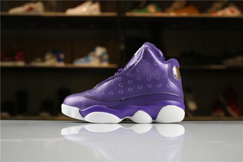 乔丹/Air Jordan【童鞋】aj13 AJ13 乔丹13代 乔13 乔丹13 篮球鞋 童鞋 大童 Air Jordan 13 乔13暗紫 28-35