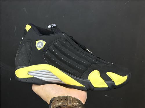 """乔丹/Air Jordan【真标东莞】aj14 AJ14 乔丹14代 乔丹14 乔14 Air Jordan 14 """"Thunder""""货号:487471-070 乔14雷神 41-47"""