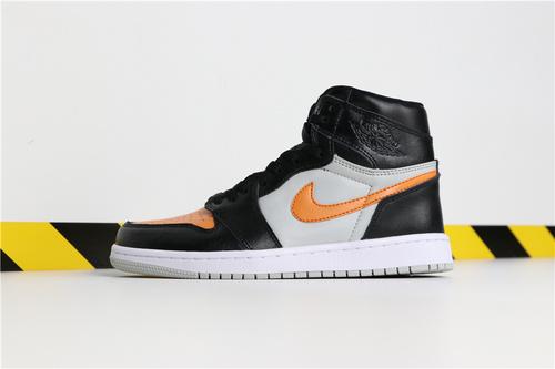 乔丹/Air Jordan 【超A】AJ1 aj1 乔丹1代 乔1 乔丹1代高帮系列Air Jordan 1 货号:555080-080 乔1黑灰黄 40-45