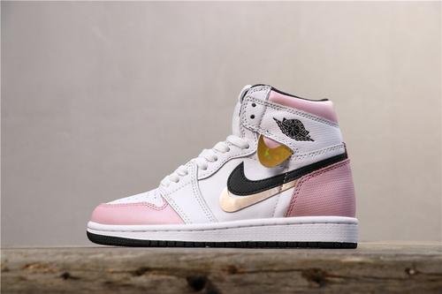 乔丹/Air Jordan 【GET毒版】aj1 AJ1 乔丹1代 乔1 Air Jordan 1 Retro High OG AJ1 货号:555088-688 乔1多勾粉白 36-42