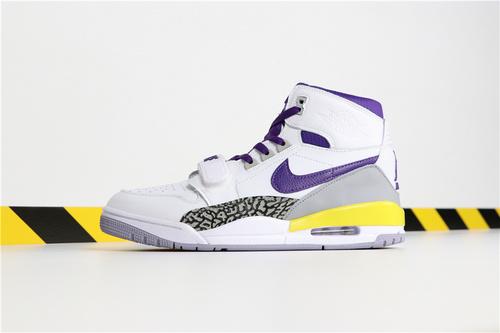 """乔丹/Air Jordan【超A】Don C x Jordan Legacy 312 """"Lakers"""" 货号:AV3922-157 乔丹联名三合一NBA湖人 40-46"""
