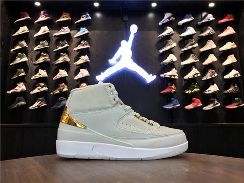 """乔丹/Air Jordan 【真标公司货】aj2 AJ2 乔丹2代 乔丹2 乔2 Air Jordan 2 Retro """"Quai 54"""" 货号:866035-001 乔2街球Q5白金 41-46"""