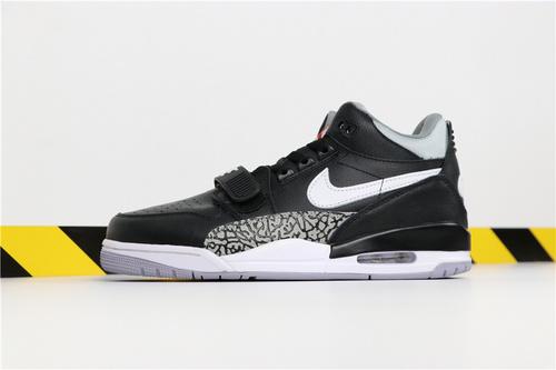 """乔丹/Air Jordan【真标超级A】Don C x Jordan Legacy 312 """"Black Cement"""" 货号:AV3922-001 乔丹联名三合一低帮奥利奥 40-46"""