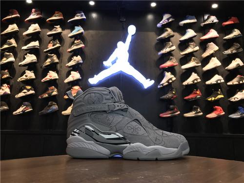 """乔丹/Air Jordanaj8 AJ8 乔丹8代 乔8 乔丹8 KAWS x Air Jordan 8 """"Cool Grey"""" 货号:305381-014 乔8涂鸦酷灰 40-46"""