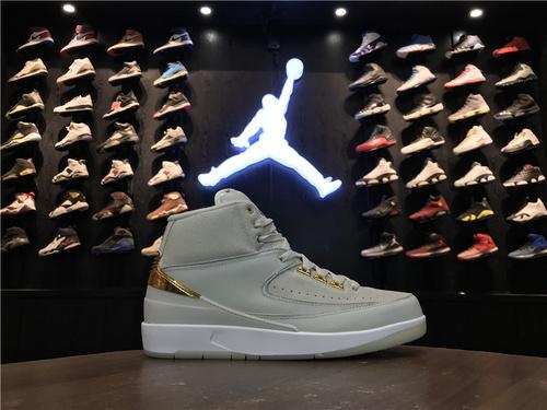 """乔丹/Air Jordan 【真标公司货】aj2 AJ2 乔丹2代 乔丹2 乔2 Air Jordan 2 Retro """"Quai 54"""" 货号:866035-001 乔2街球Q5白金 42.5-47"""
