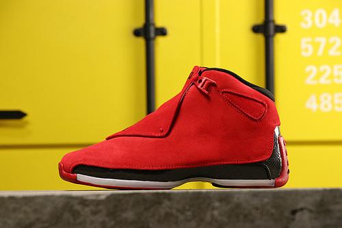 """【真标公司级】乔丹/Air Jordan aj18 AJ18 乔18 乔丹18  乔丹18代高帮 Air Jordan 18 """"Toro"""" 货号:AA2494-601 乔18红麂皮 40-47"""