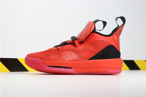 """乔丹/Air Jordan【超级A】AJ33 乔33 乔丹33代系列 Air Jordan 33 """"University Red"""" 货号:AQ8830-600 乔33新年喜庆大红 40-46"""